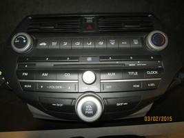 08 09 10 11 Honda Accord Radio Cd Player Climate Control #39100 Ta0 A01 Xx 864 - $168.29