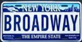 Broadway New York License Plate - $7.99