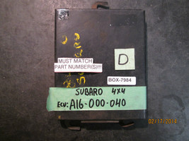 85 86 87 88 SUBARU 4X4 ECU #A16 000 040 *See item description* - $42.07