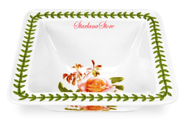 Portmeirion Salad Bowl Botanic Roses Square Fin... - $35.10