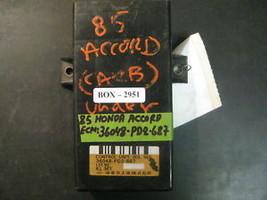 85 Honda Accord Ecm #36048 Pd2 687 - $59.39