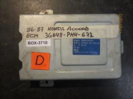 86 87 Honda Accord Ecu/Ecm #36048 Ph4 672 36048 Ph4672 Box 3710 - $54.69