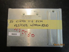 86 CIERA V6 ECU/ECM #1227302 W/PROM AJUD *see item description* - $21.03