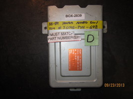 88 89 Honda Accord Ecu/Ecm #36048 Ph4 698 *See Item Description* - $26.24