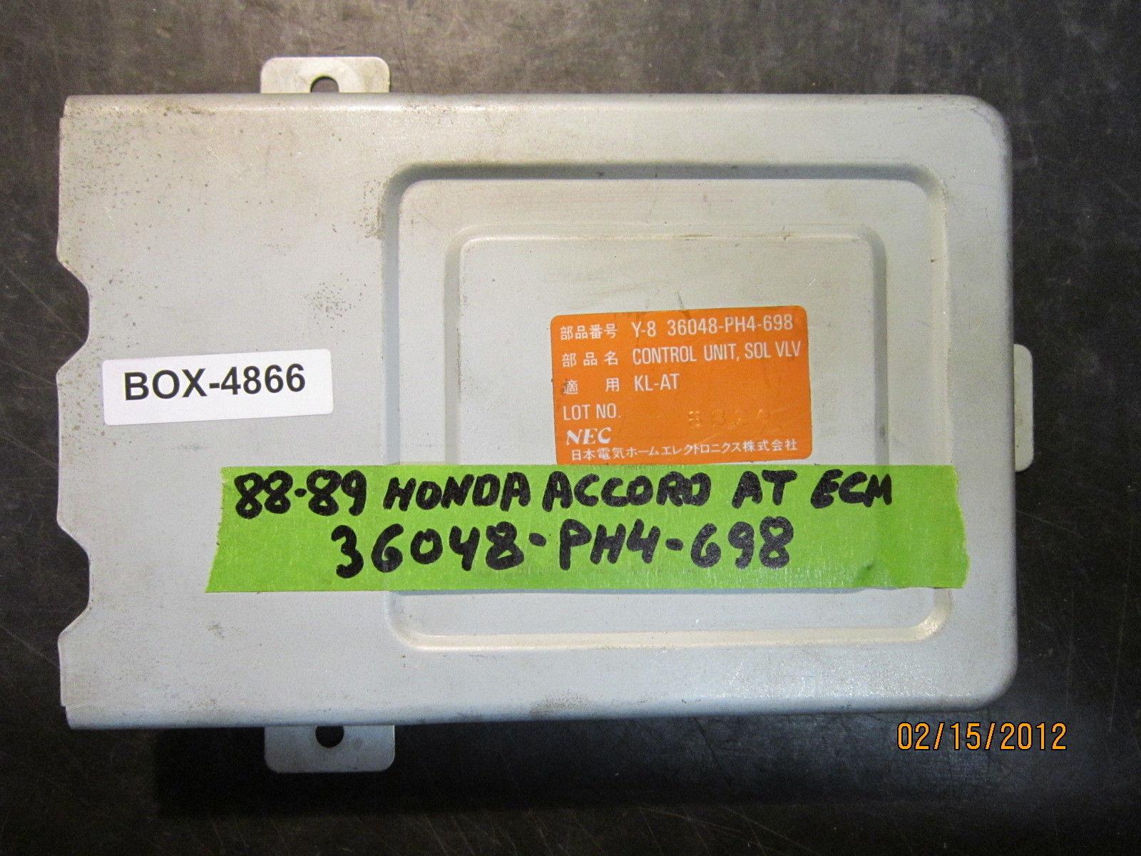 88 89 HONDA ACCORD A/T ECU/ECM #36048-PH4-698 *see item description* - $22.29