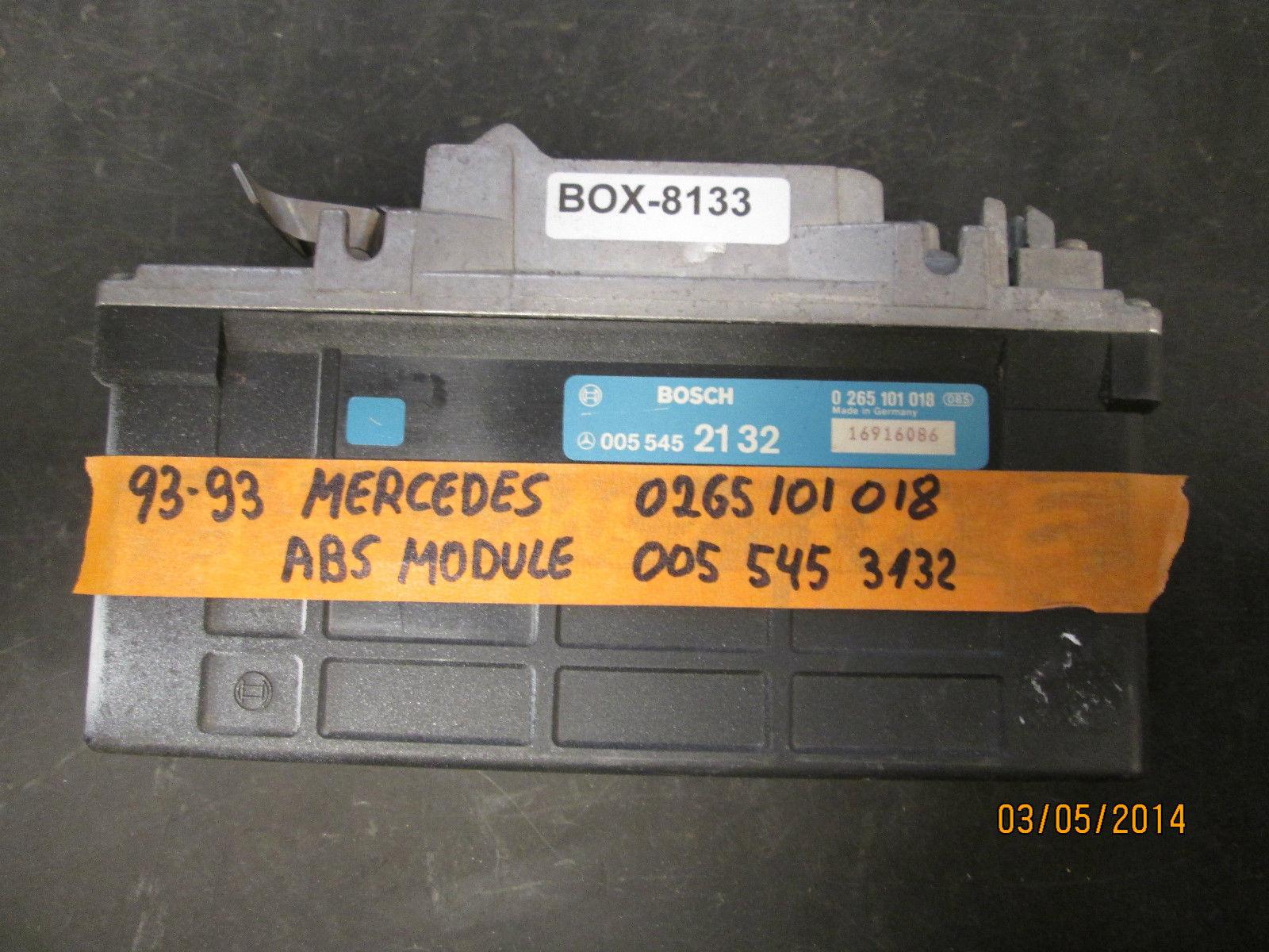 92 93 MERCEDES ABS MODULE #0055452132/0265101018 *see item description* - $14.84