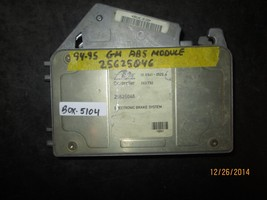94 95 GM ABS MODULE #25625046 BOX-5104 *See item description* - $11.77
