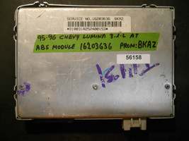 95 96 Chevy Lumina 3.1 L A/T Abs Module #16203636 Bkaz *See Item Description* - $18.50