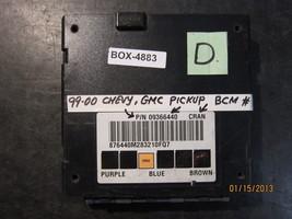 99 00 Chevy Gmc Pickup Bcm # Pn09366440 *See Item Description* - $126.22