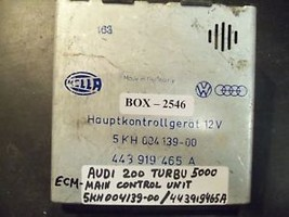 AUDI 200 TURBO 5000 MAIN CONTROL UNIT #5KH004139-00 - $58.90