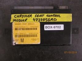 Chrysler Seat Control Module #4727056 Ad *See Item Description* - $67.31