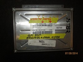 GM ECM #09361735 CYDN *See item description* - $25.24