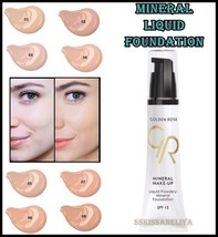 Golden Rose Liquid Powder Mineral Foundation SPF 15 Hydrating 35 ml Para... - $10.45
