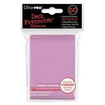 50 Ultra Pro Pink Standard Deck Protector Card Sleeves Pokemon MTG ULP82674 - $5.99