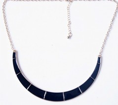 Short Painted Necklet Lacquered Alloying Necklace(Black) - $6.80