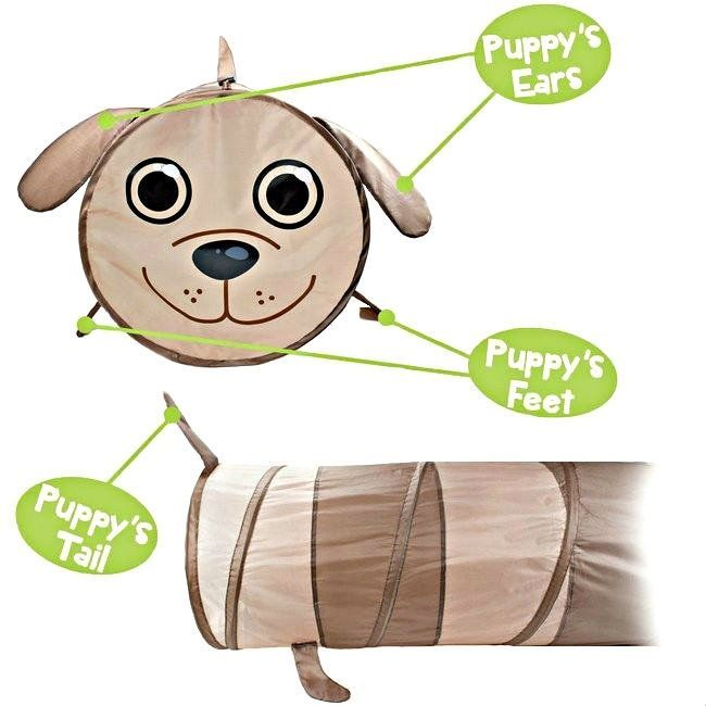 Puppy 6 Foot Exploration Children's Pop Up Tunnel Age 3+