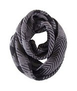 NioBe Soft Classic Plaid and Various Pattern Infinity Scarf (Grey Chevron) - $14.95
