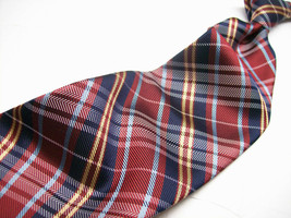 NWOT IZOD   Metallic PLAID    Baby Blue  Mens silk 100 neck tie s - $9.89