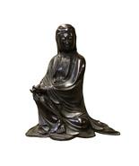 Chinese Fine Bronze Metal Sitting Tong Style Kwan Yin Buddha Statue cs3743 - $7,890.00