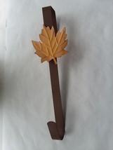 "14"" Fall Leaf Metal Decoration Door Fall Leaf Door Hanger Hook - $7.91"