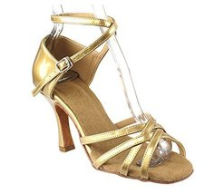 "Very Fine Ladies Women Ballroom Dance Shoes EKSA1606 Pearl Gold 2.5"" Hee... - $65.95"