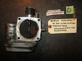 98 99 00 MERCEDES ML 320,C280,CLK320 THROTTLE BODY #1121410025/0205003046 - $89.09