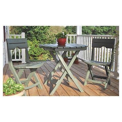 Oudoor Bistro Set Patio Garden Yard Dining Furniture 3 Piece Stools Table Cafe