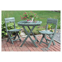Oudoor Bistro Set Patio Garden Yard Dining Furniture 3 Piece Stools Tabl... - $138.88