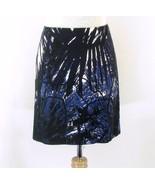 TAHARI Size 4 New Blue Black Zipper Detail Straight Skirt - $24.50