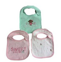 3-pk Snap Closure Carter's Child of Mine Bib I Love Grandma Monkey Heart... - $12.99