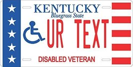 Kentucky Disabled Veteran Personalized Tag Vehicle Car Auto License Plate - $16.75