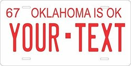 Oklahoma 1967 Personalized Tag Vehicle Car Auto License Plate - $16.75