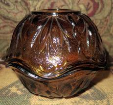 Vintage Amber Fairy Lamp, Depression Glass Candle Holder, Glass Votive - $15.00