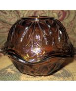 Vintage Amber Fairy Lamp, Depression Glass Candle Holder, Glass Votive - $15.00