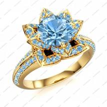925 Silver 14K White GP Disney Princess Snow White CZ Lotus Elegant Wedding Ring - £60.95 GBP