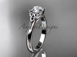Platinum celtic trinity knot wedding ring ,Moissanite  CT7154 - $1,445.00