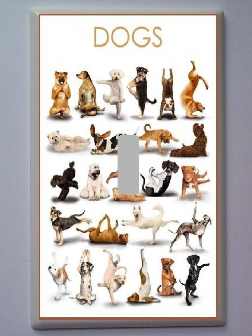 DOGS LIGHT SWITCH PLATE