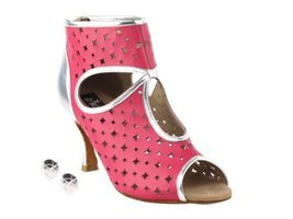 "Very Fine Ladies Women Ballroom Dance Shoes EKCD3022 Peach & Silver 2.5"" Heel... - $82.95"