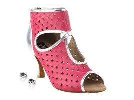 "Very Fine Ladies Women Ballroom Dance Shoes EKCD3022 Peach & Silver 2.5"" Heel... - $82.95"