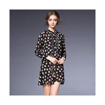 Cartoon Printing Shirt Skirt Silk Dress60189   S - $82.99