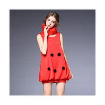 Ball Top Binding off Ballon Skirt Dress with Scarf60188   S - $69.99