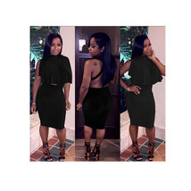Night Club Dancing Party Sexy Dress Woman Backless Tie-up 2pcs Short Skirt - $24.99