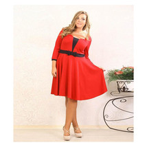 European Big Size Sexy Woman Attire Pure Color Bowknot Professional Dres... - $25.99