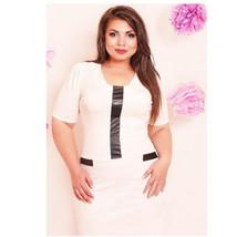 Super Big Size Sexy Dress White Collar Professional Attire European Style - $27.99