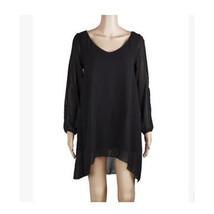 European Mini Chiffon A Shape Dress Fasionable black S - $16.99