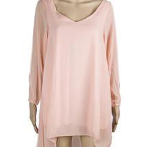 European Mini Chiffon A Shape Dress Fasionable pink S - $16.99