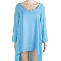 European Mini Chiffon A Shape Dress Fasionable light blue S - $16.99