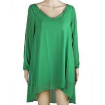 European Mini Chiffon A Shape Dress Fasionable green S - $16.99