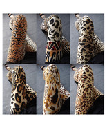 Leopard printing leggings Stretchy fit Fashion skin pants trousers Small Leopard - $10.49
