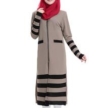 Muslim Long Sleeve Knit Long Dress  khaki - $31.99